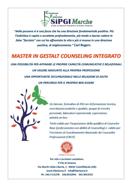 Master  in Gestalt Counseling Integrato