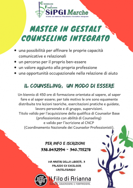 MASTER in GESTALT COUNSELING INTEGRATO ed. 2018/2019